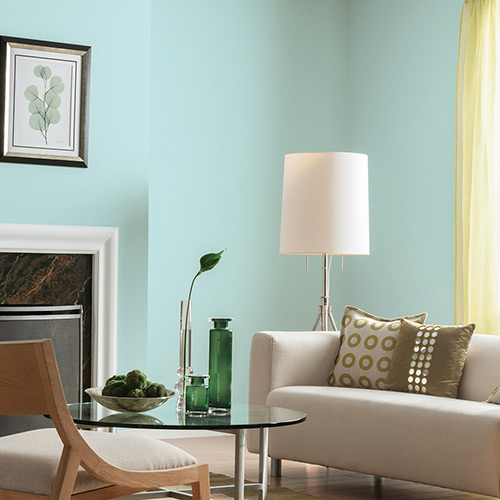 Small Living Room Ideas: Aquamarine Colors